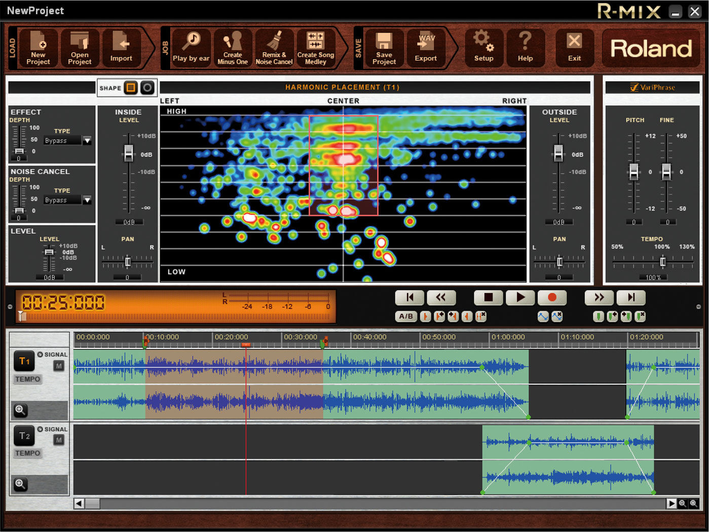 Roland R-Mix Manipulation Software.